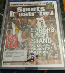 Kobe Bryant And Tim Duncan Duel Auto Signatures Jsa Coa Si Cover W/ Letter