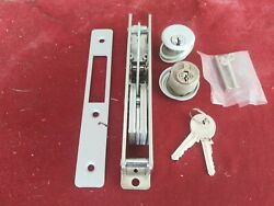 Commercial Glass Door Lock With Key Cylinders. Free Shipping