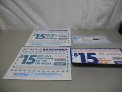 Lot Of 4- 10 And 15 Off Bed Bath And Beyond Coupons-expired