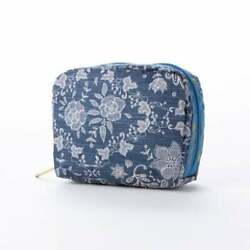 Japan Only LeSportsac Square Cosmetic Floral Race Amulet Access $67.55
