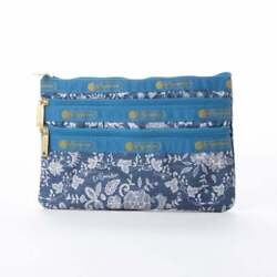 Japan Only LeSportsac 3Zip Cosmetic Floral Race Amulet Access $72.45