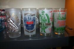 Vintage 1964, 68, 69 And 1971 Churchill Downs Kentucky Derby Julep Glasses