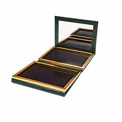 Green Faux Leather Double Sided Empty Magnetic Palette With Mirror Holds 70 ...