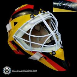 Kirk Mclean Signed Goalie Mask Vancouver Yellow V2 Signature Edition Autographed