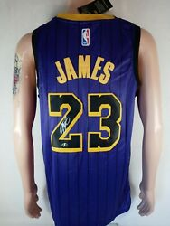 Lebron James Signed Los Angeles Lakers Purple Nike Nba Jersey With Tags And Coa