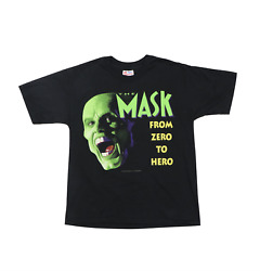 Vintage 1994 The Mask Jim Carrey Movie Promo T-shirt Youth Xl Adult Small / Xs