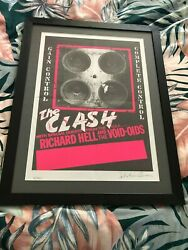 Framed Clash 'complete Control' Poster Ltd Edition Signed By Sebastian Conran