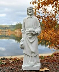 St. Joseph The Worker Outdoor Garden Statue 24 Inch Indestructible Pvc Poly Usa