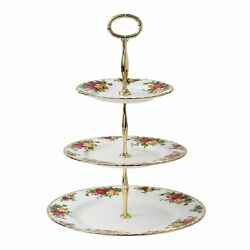 Royal Albert Old Country Roses 3-tier Cake Stand Fine Bone China New