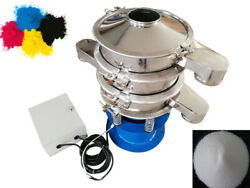 Electric Stainless Vibration Sieve Machine W/protection Cap 20and100 Mesh Screen