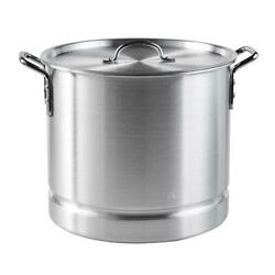 32 Qt Steamer Pot Aluminum Cooking W/ Lid Removable Steam Tray Large Batch Food