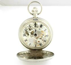 Watch Perseo Pocket Openworked Mechanical Manual Wind Double Savonette 17108