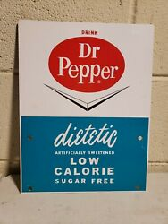 Rare 1960's Drink Dietetic Dr Pepper Advertising Rack Sign Country Store