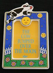 Russ Picture Frame For 4 X 6 Photo Cow Jumped Over Moon Baby Nursery Rhyme-10
