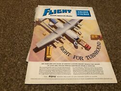 Ac49 Flight Magazine Cover Page 11x8 Armstrong Whitworth Argosy