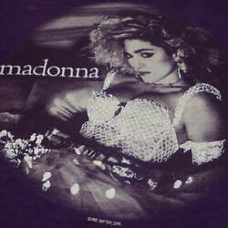 80s Madonna Vintage T-shirt Purple Things At The Time Real Thing Band Lock