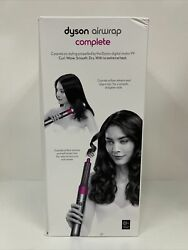 Nickel/fuchsia Dyson Airwrap Complete Styler Multiple Hair Types And Styles New