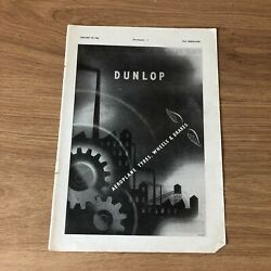Sta66 Advert 11x8 For Best Aeroplane Tyres Wheels And Brakes Choose Dunlop