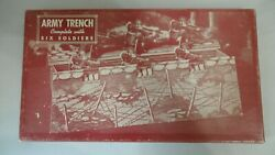 Army Trench Complete Set With Six Soldiers Built Rite Toys  1940's  Set Has