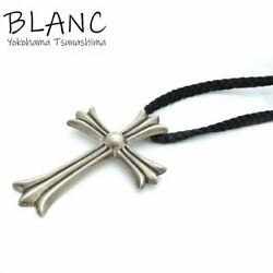 Secondhand Chrome Hearts Ch Cross Large Leather Blade Sv925 Silver Black