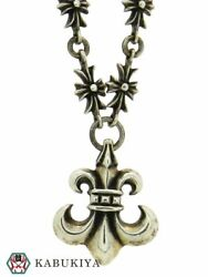 Chrome Hearts Tiny Ch Plus Necklace W/bsf Pendant Silver Sv925 Menand039s Women And039s