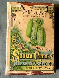 Vintage Seed Packet Box With Seeds Sioux City Nursery Seeds Iowa Antique Garden
