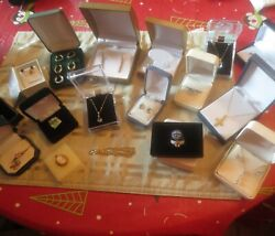 Lot 10k,14k Gold And 1 Gold Filled Rings,pendants Scrap