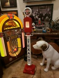 Texaco Air Meter On Stand Cast Aluminum Hand Crafted Decorative Replica Man Cave