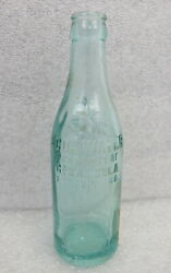 Antique Coca Cola Coke Soda Water Bottle Blue Glass Embossed Star 6 Ounce Oz Old