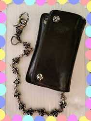 Authentic Chrome Hearts Wallet With Flare Chain Fashion Accessories