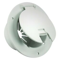 Jr Products Deluxe 5.2d Polar White Round Electric Cable Hatch W Back