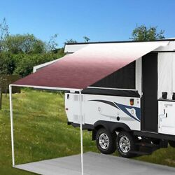 Rv Awning Fabric 19and039w X 8and039ext. Vinyl Fade Burgundy One-piece Patio Replacement