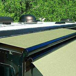 Ascent 140w Solid Black Rv Slide-out Awning W Full Case And Wind Deflector