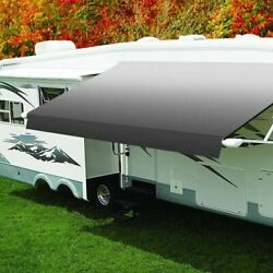 Eclipse 18 Rv Patio Awningand039w X 8and039ext. Vinyl Fade Silver Power Rv Patio Awning W