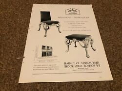 Ant8 Antique Advert 11x8 Temple Williams Queen Anne Suite In Silver Gesso