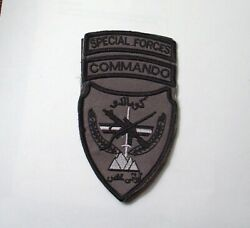Afghan Commando Special Forces Afghanistan Made Vcro Patch Full Size Gray Plyt