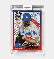 Topps Project 70 Card 252 - Clayton Kershaw By Sophia Chang - Presale