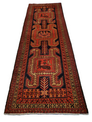 Unique N.w. Perzian Runner Animal/tribal Motifs - 3and0397 X 10and0394