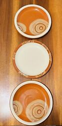 Set Of 3denby - Fire Chilli - 9 Plates - England Stoneware - Excellent