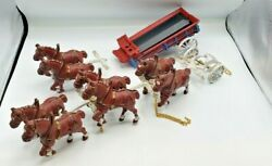 Budweiser Clydesdale Horses And Wagon