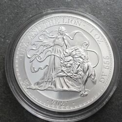 2021 St Helena 1oz Silver Bu Una And The Lion In A Airtight Capsule.