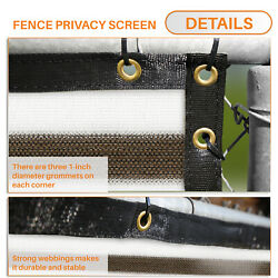 11ft Brown White Privacy Fence Screen Patio Yard 95 Blockage Mesh W/gromment