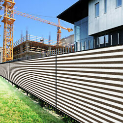 7ft Brown White Large Fence Privacy Screen 95 Blockage Mesh W/gromment