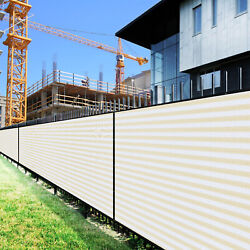 7ft Beige White Large Fence Privacy Screen 95 Blockage Mesh W/gromment