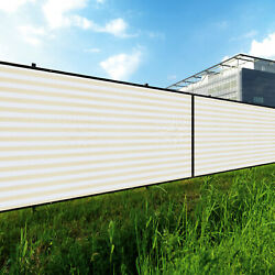 11ft Beige White Privacy Fence Screen Patio Yard 95 Blockage Mesh W/gromment