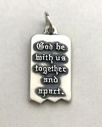 James Avery Mizpah God Be With Us Together And Apart Charm Sterling Silver