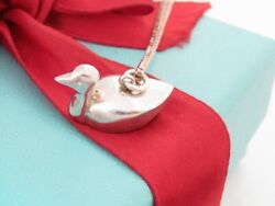 And Co Silver Vintage Duck Swan Swimming Charm Necklace 18