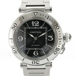 Watches Silver Black Stainless Steel Pacha Sea Timer From Japan Used
