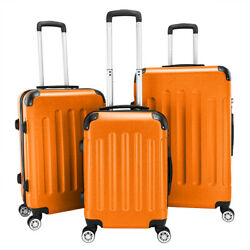New Durable 3pcs Luggage Set Abs Trolley Spinner 20/24/28 Suitcase Hard Shell