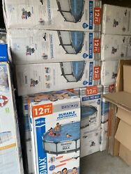 Brand New Bestway Steel Pro Max 12and039 X 30 Above Ground Swimming Pool Set Pump